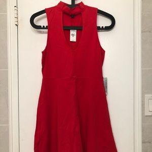 Express red short dress